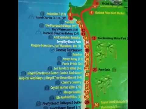 Map Of Negril Jamaica