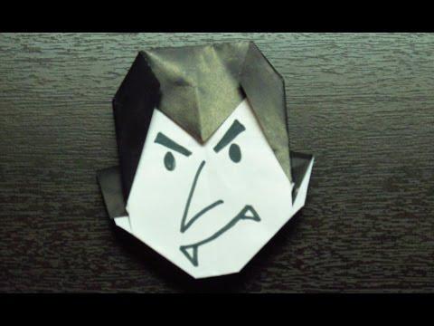 Como hacer un VAMPIRO DE PAPEL | halloween origami  (Muy fácil)