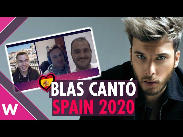 Blas Cantó (Spain Eurovision 2020) REACTION
