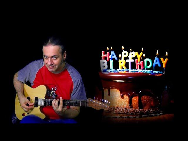 HAPPY BIRTHDAY TO YOU guitar TANTI AUGURI A TE chitarra