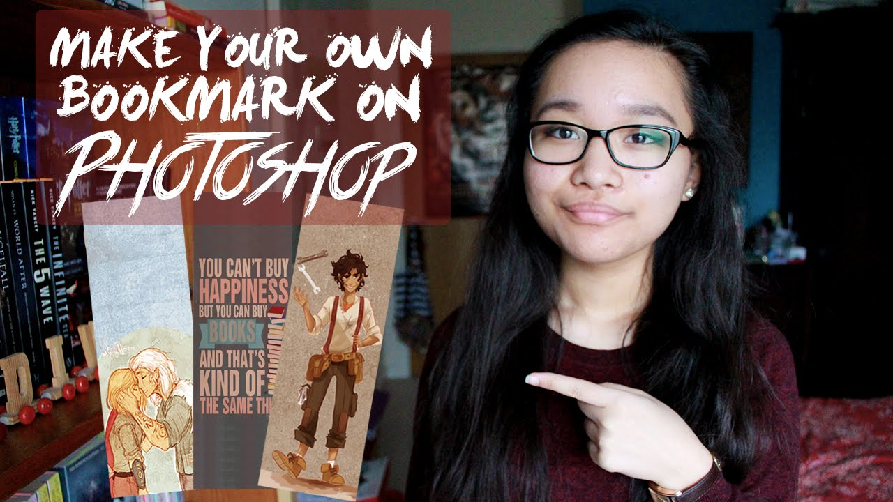 DIY: HOW TO MAKE A BOOKMARK ON PHOTOSHOP - YouTube