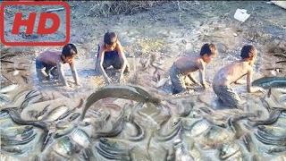 Вау! Удивительные Дети Ловят Большую Рыбу - Рыбалка В Провинции Сием Рип - Традиционная Рыбалка В К