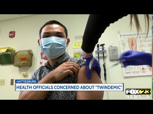 """Health officials concerned over """"twindemic"""""""