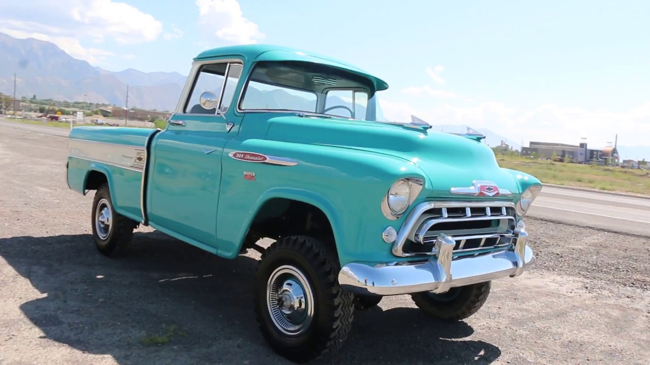 1957 chevrolet 3124 cameo napco 4x4 pickup for sale gorgeous restoration nicest one on the planet  [ 1280 x 720 Pixel ]