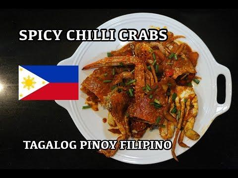 🇵🇭 Spicy Chilli Crabs - Tagalog Pinoy Filipino Cooking - Chili Crab Recipe