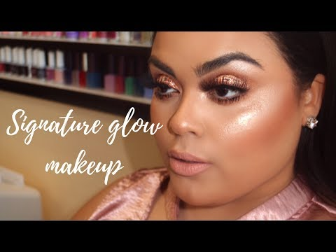 MY SIGNATURE GLOWY MAKEUP♡♡ |GABRIELLAGLAMOUR