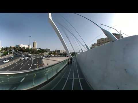 3D/Spherical Video: String Bridge, Jerusalem, Israel