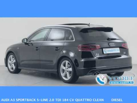 vodiff audi occasion alsace audi a3 sportback s line 2 0 tdi 184 cv quattro clean diesel. Black Bedroom Furniture Sets. Home Design Ideas