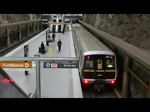 MARTA Transit: 1979/84 FB/Hitachi CQ310/CQ311 Gold Line at Peachtree Center Station (Northbound)