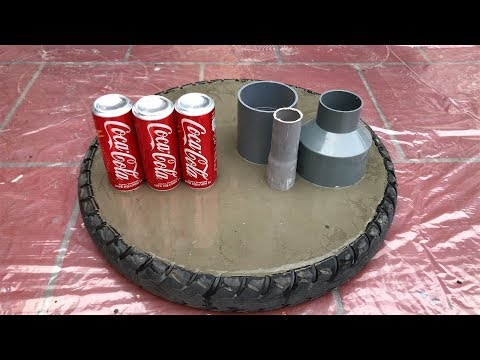 DIY - ❤️ CEMENT CRAFT IDEAS ❤️ - Recycled tires into Gorgeous table