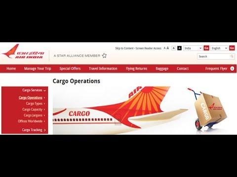 Air India Cargo Tracking,Air India Air Cargo Tracking Status