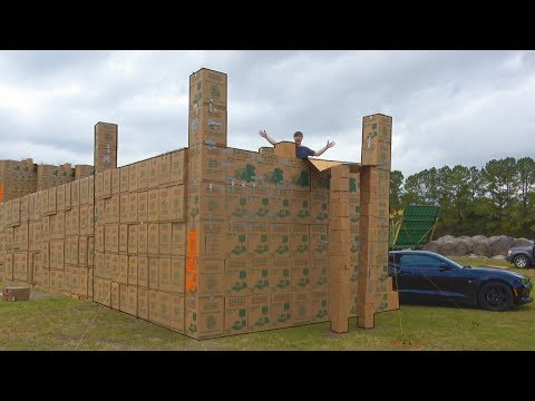 I Built A Mansion Using Only Cardboard Boxes