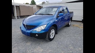 (SOLD) Non Runner 2007 Ssangyong Actyon Sports 4×2 Dual Cab Ute Diesel 5 Speed Manual Review