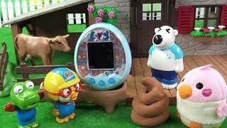 다마고치 믹스 애완동물 키우기~ 귀여운 다마고찌 새 ❤ 뽀로로 장난감 애니 ❤ Pororo Toy Video | 토이컴 Toycom