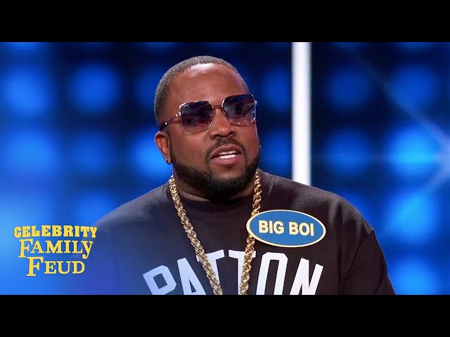 Big Boi's answer rhymes with lips... | Celebrity Family Feud