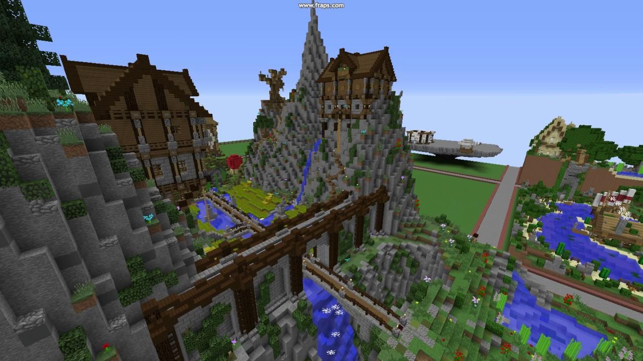Minecraft Maison Sur Falaise Et Dans Les Arbres Youtube