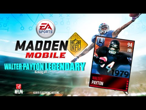 Madden mobile 2016 legendary walter payton running back compilation big hits jukes trucks - Walter payton madden 15 ...