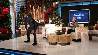 Usher Plays 'Heads Up!' with Ellen
