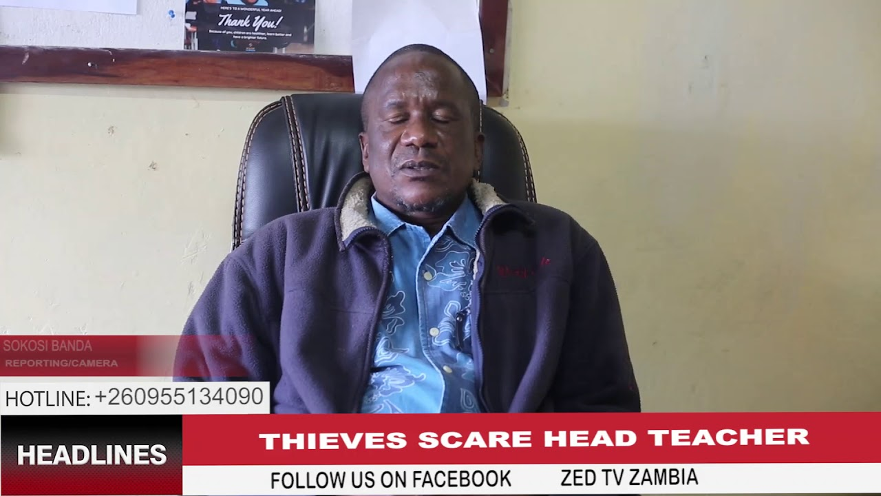 Download Thieves scare a primary school head teacher in Zambia's capital Lusaka