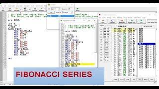 سلسلة فيبوناتشي في لغة التجميع 8086