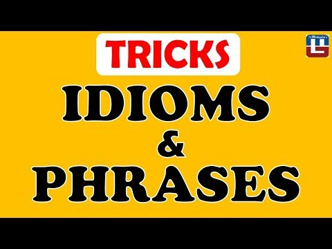 Idioms & Phrases | English | SSC CGL | IBPS RRB PO | CPO | CLERK | SBI | RBI | SO