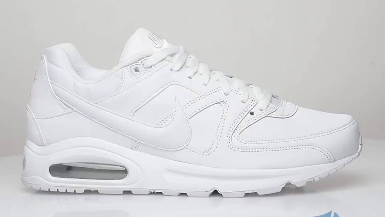 factory authentic preview of differently nike air max command leather white