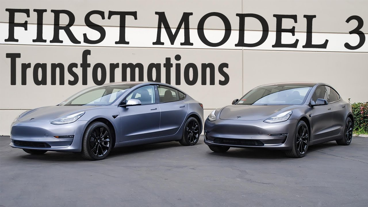 First Mive Tesla Model 3 Transformation Custom Color By Sd Wrap