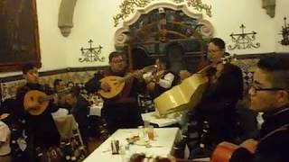 Musicians at Café de Tacuba in Mexico City, Estados Unidos Mexicanos