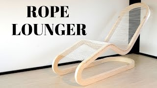 Making a Rope Lounger Chair - Bent Lamination