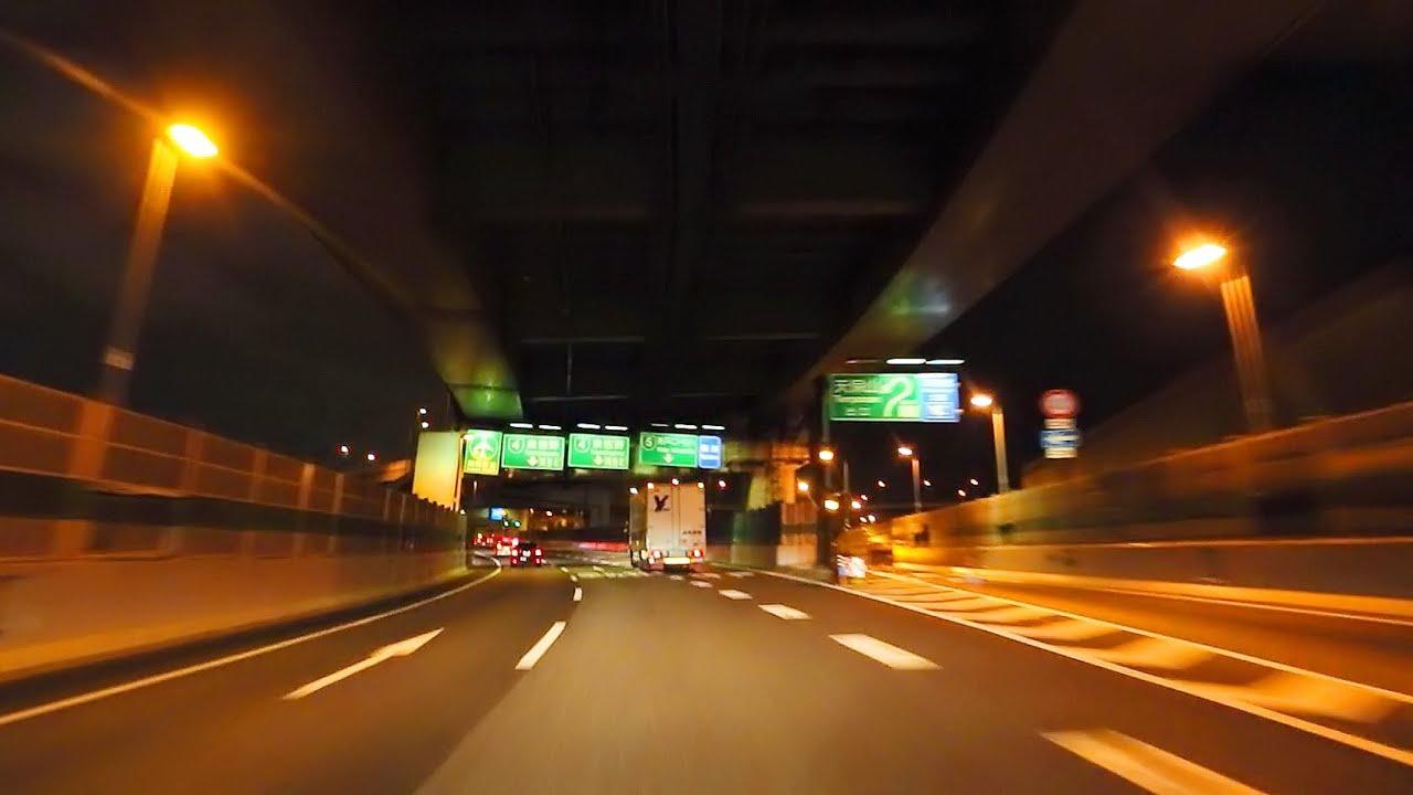 Www Racing Car Wallpaper Com 阪神高速13号東大阪線~4号湾岸線~関西空港 夜景ドライブ Hanshin Expressway No 4