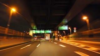 阪神高速13号東大阪線~4号湾岸線~関西空港 夜景ドライブ Hanshin Expr...