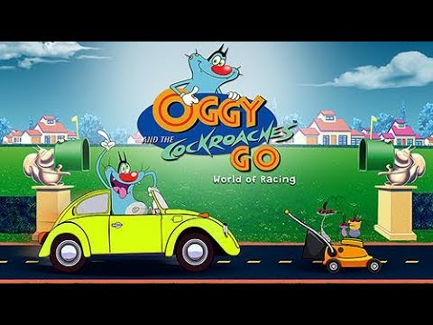 Trò chơi Oggy Go đua xe cùng những chú dán tinh nghịch