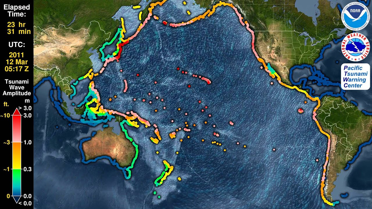 Tsunami Forecast Model Animation: Japan 2011