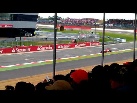 F1 british grand prix silverstone qualifying 2011 from pit straight