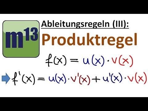 Ableitungsregeln (3): Produktregel - YouTube