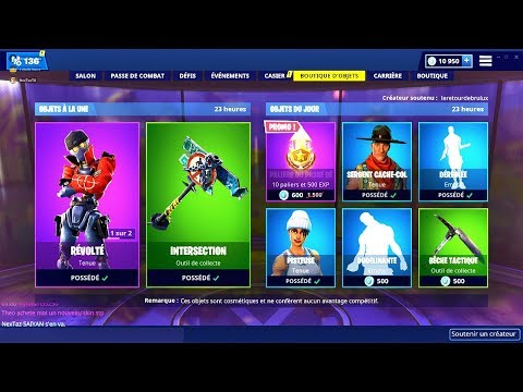 BOUTIQUE FORTNITE du 24 Fevrier 2019 ! ITEM SHOP February 24 2019