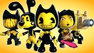 FREE Bendy And The Ink Machine Costumes (Fan Made) - LittleBigPlanet 3 PS4 Gameplay