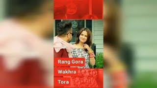 Rang Gora full Screen Whatsapp status || With lyrics || Full Screen Status || Akhil ||