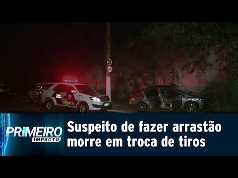 Polícia mata suspeito de fazer arrastão em ponto de ônibus de SP | Primeiro Impacto (20/07/18)