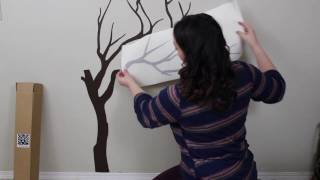 The Decal Guru Japanese Cherry Blossom Tree Wall Decal Application Video