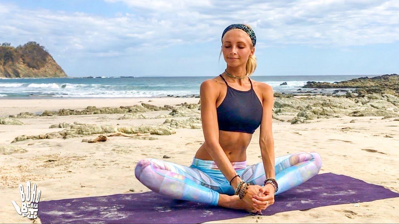 745acf691fff4 Yoga For Beginners ♥ Easy Stretch & Stress Release | Playa ...