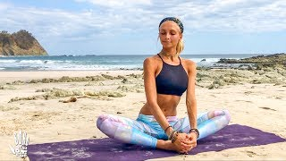 Yoga For Beginners ♥ Easy Stretch & Stress Release | Playa Barrigona