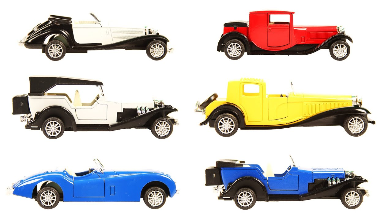 Learn Vintage Cars With Toys For Kids Kids Learning