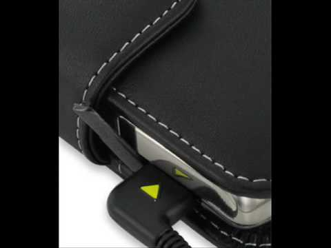 PDair Leather Case for Samsung Jack SGH-i637 - Horizontal Pouch Type (Black)
