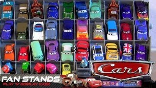 Cars 2 Fan Stands Play N Display Storage Case Launcher Stand Stores 40 Diecast Disney Blucollection