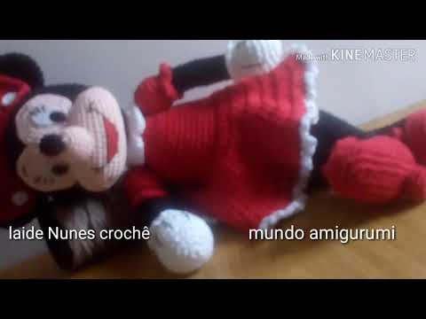 Doll in Minnie Mouse Costume amigurumi pattern - Amigurumipatterns.net | 360x480