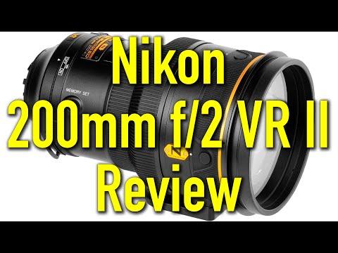 Nikon 200mm f/2 VR II Review 4K