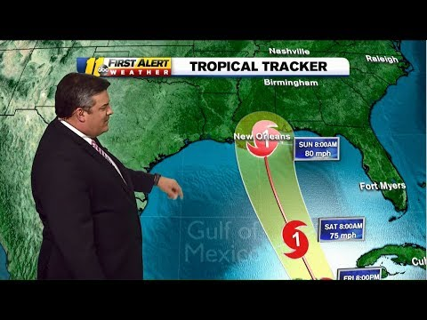 Tropical  Storm Nate latest track