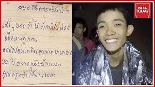 Thailand Cave Rescue : Trapped Boys Write Letters To Parents