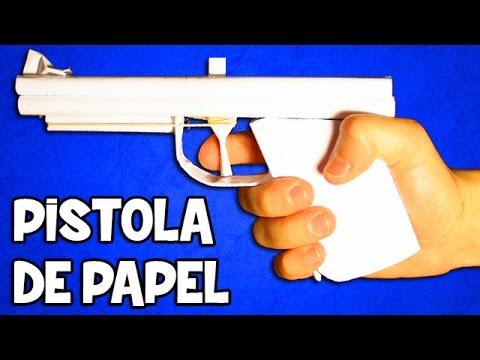 Pistola de Papel que Dispare   Pistola Casera Fácil y Potente
